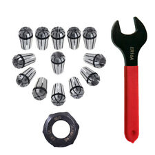 Er16 A Type Collet Clamping Nut 12pcs Spring Collet Set Er16a Wrench