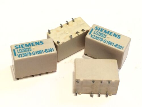 5V COIL 2A DPDT CONTACTS SURFACE MOUNT RELAY SIEMENS V23079G1001B301       aa6*a