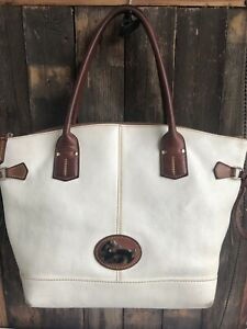 Dooney-amp-Bourke-Fairfield-Champosa-Leather-Handbag-Tote-Bag