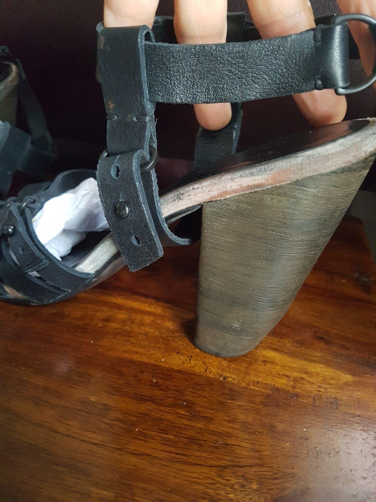 Tutti i Santi spitaalfields MORI Gladiatore Con Cinturini Sandali in in in pelle nera, taglia 6f1a4b