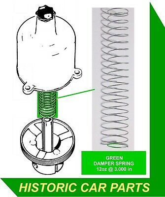 "GREEN DAMPER SPRING x 1 for 1¾"" SU Carbs Austin Healey 3000 BN7 BT7 1959-61"