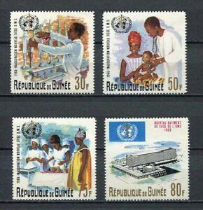 27244-Guinea-1967-MNH-New-Who-4v