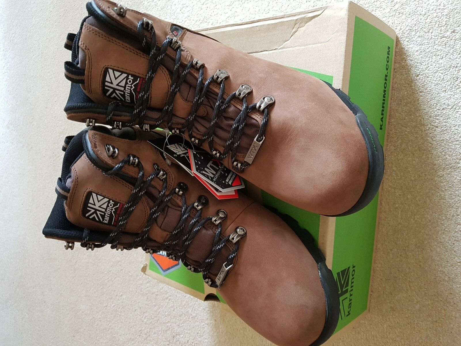 MENS BNWB KARRIMOR KINDER braun WATERPROOF WALKING Stiefel Größe 9.5
