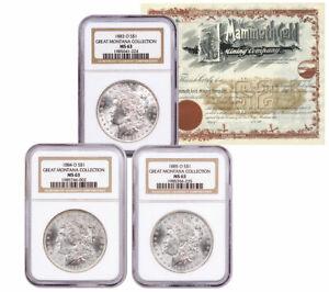 1883-1885-O-Silver-Great-Montana-Morgan-Dollar-NGC-MS63-Mammoth-Cert-SKU58089