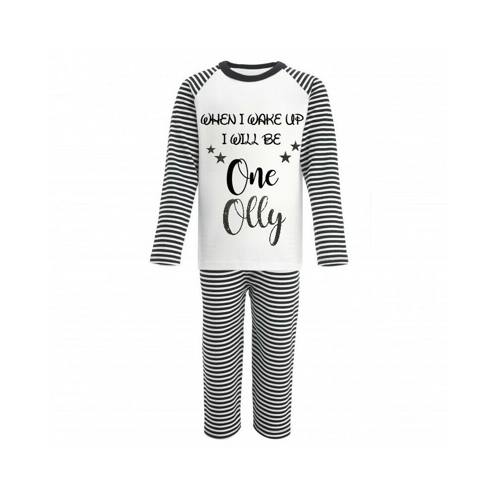 Age 1-5 Baby//Infant Birthday Pyjamas  Boy Girl  When I Wake Up I Will Be