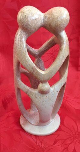 Handcrafted in Kenya Handmade Soapstone Loving Family of Four
