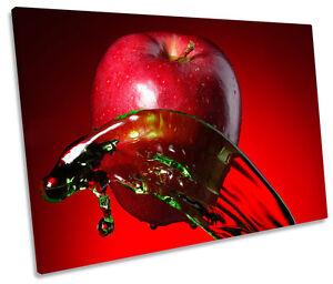 mesmerizing apple kitchen wall decor | Apple Fruit Kitchen Splash SINGLE CANVAS WALL ART Picture ...