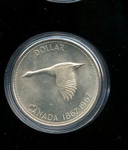 Canada-1967-Silver-1-00-One-Dollar-Coin-BU-MP57