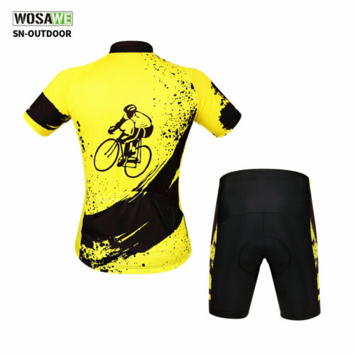 Cycling Bike Short Sleeve Clothing Bicycle Sports Wear Set Jersey//Shorts S-XXL