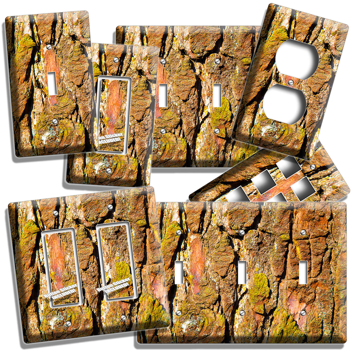 Artist Lady with Tree Light Switch Duplex Outlet Wall Cover Plate Home Decor
