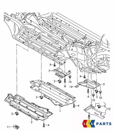 Genuine Audi A6 C6 05-11 Diesel Anteriore Sottoscocca Trim Destro O//S 4F0825208J