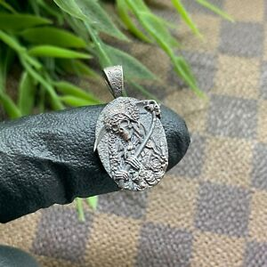 Santa-Muerte-Holy-Death-Grim-Reaper-Silver-Micro-Pendant-Handmade-Jewelry
