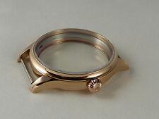 Unitas eta 6497 6498 PVD Rose oro watch case AAA quality relojes carcasa France
