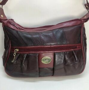 Details about Spiess German Women's Red Leather Look Shoulder Crossbody Bag Used