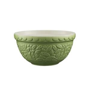 Mason cash In The Forest Hedgehog Earthenware Green Pudding Dough Mixing Bowl