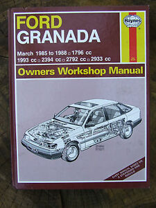 ford granada 1796 1993 2394 2792 2933 cc haynes service repair rh ebay co uk Auto Repair Manuals Online Haynes Repair Manuals Online