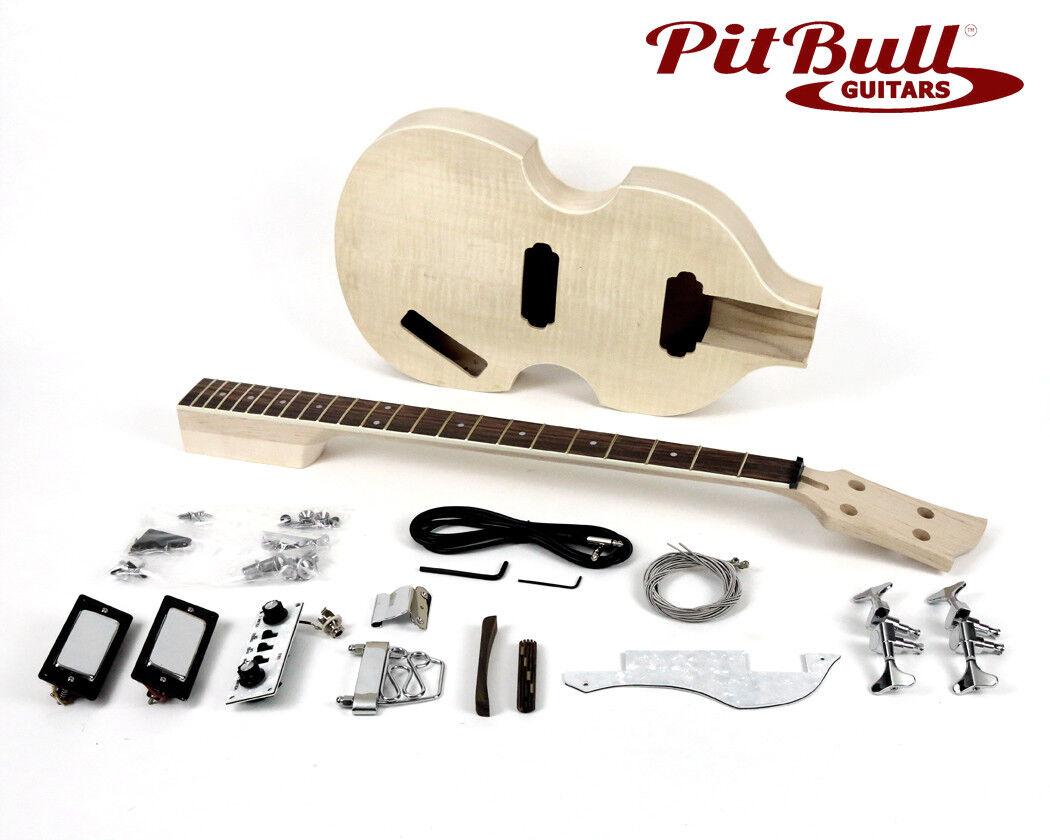 PIT Bull Guitars HB-4 Bajo Bajo Bajo Eléctrico Guitarra Kit  autorización oficial