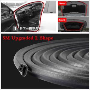 200inch L Shape Trim Moulding Hood Car Door Edge Rubber Weatherstrip Seal Strip