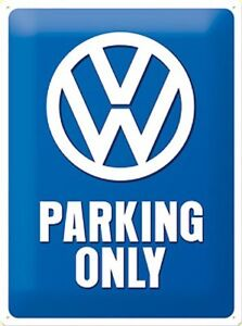 VW-Parking-Only-Goffrato-Segno-Del-Metallo-300mm-x-200mm-Na