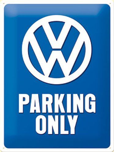 VW Parking Only embossed metal sign  300mm x 200mm na