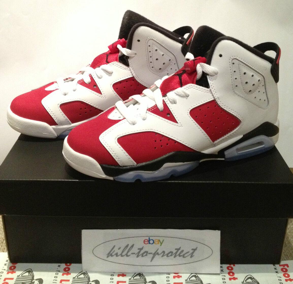 buy online b2987 336b7 Nike Jordan VI VI VI 6 Carmine SG Kids cómodo casual salvaje a2fb06