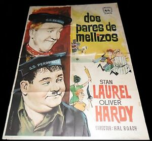 1936-Our-Relations-ORIGINAL-SPAIN-POSTER-Stan-LAUREL-Oliver-HARDY-Harry-Lachman