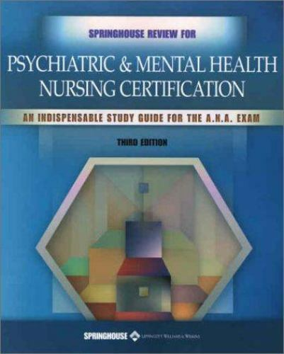 Springhouse Nursing Review Springhouse Review For Psychiatric And