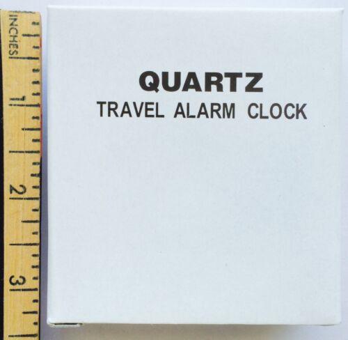 Portable//Standing TRAVEL ALARM CLOCK for POCKET//PURSE Quartz//Protective Lid//NIB!