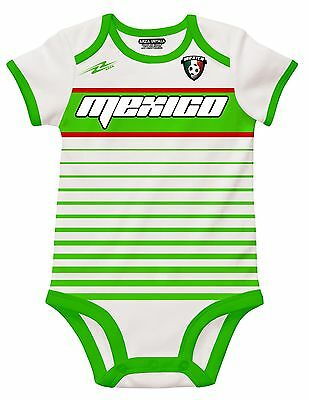 Mexico Soccer Black Baby Outfit Jumpsuit Mameluco New Size 3 to 12 months