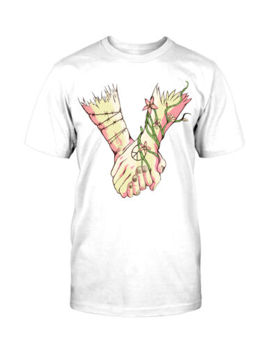 Holding Hands T-Shirt Fun Inked Tattoo Comic Love Peace Brother Sister Liebe