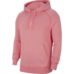 wholesale dealer 097ee f86a9 Details about Nike Jordan Sportswear Men's Wings Washed Pullover Hoodie 2XL  Pink Sweatshirt