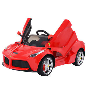 12v laferrari kids ride on car battery powered rc remote control mp3 led lights ebay. Black Bedroom Furniture Sets. Home Design Ideas