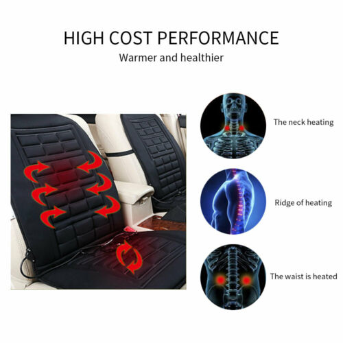 2PCS 12V Heated Seat Cushion Mat Warmer Heating Seats Cover Pad for Car Truck