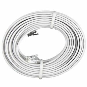 50-FT-Feet-RJ11-4C-Modular-Telephone-Extension-Phone-Cord-Cable-Line-Wire-White