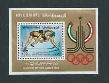 L'Iraq 1980 GIOCHI Olymipc MNH MINISHEET look fresco!