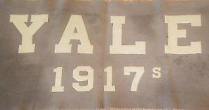 YALE-UNIVERSITY-SCHOOL-BANNER-1917-S-Class-Reunion-Vintage-Antique-Oversized