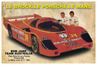 PETER BROCK TEAM AUSTRALIA LE MANS CAR VINTAGE TIN SIGN
