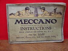 Ancien catalogue Meccano pour boïtes N° 00 à 3