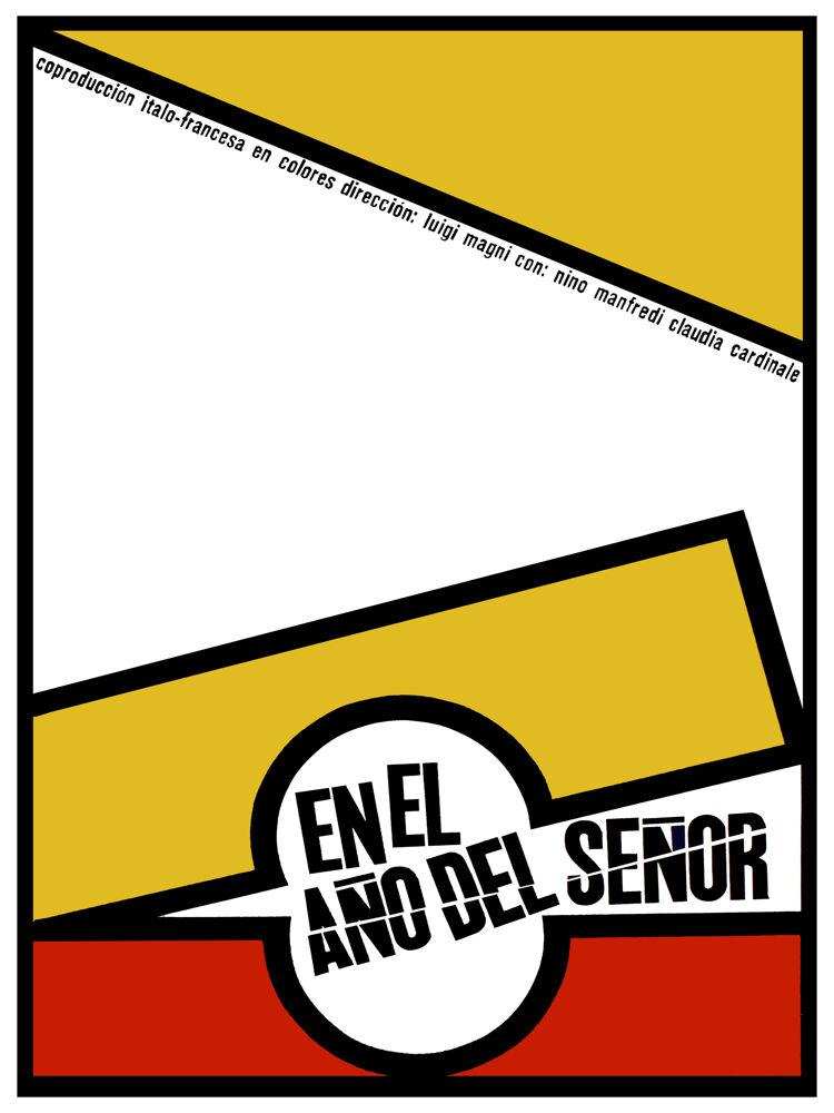 El Año del señor vintage Movie POSTER.Graphic Design. Wall Art Decoration.3787