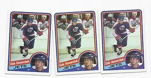 3-X-1984-85-TOPPS-152-JETS-DALE-HAWERCHUK-NRMT-CARD
