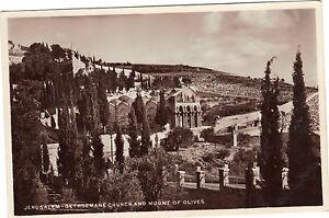 Israel-cpa-JERUSALEM-Gethsemane-church-and-mount-of-olives