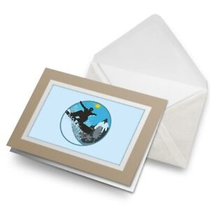 Greetings-Card-Biege-Winter-Snowboard-Snowboarding-7134