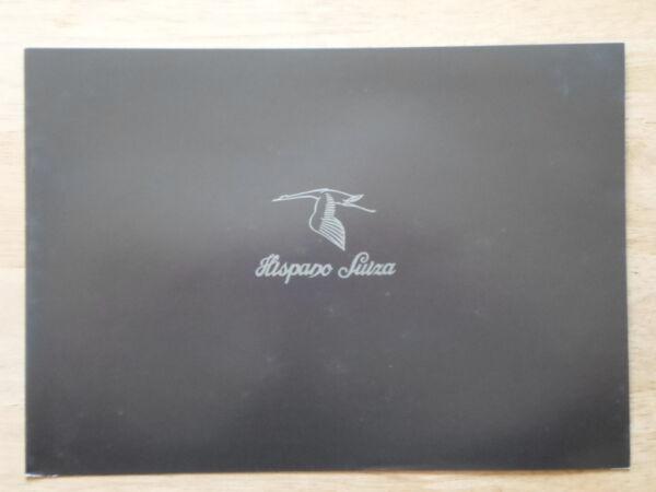 2019 Nuovo Stile Hispano Suiza K8 Orig 2001 Concept Car Vendite/opuscolo Pubblicitario Elaborato Finemente