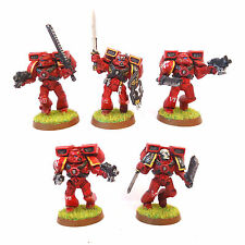 WARHAMMER 40K ARMY BLOOD ANGELS ASSAULT  SQUAD   PAINTED AND BASED