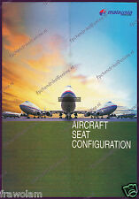 MALAYSIA AIRLINES - FOLDOUT BROCHURE, COMPLETE FLEET SEAT MAPS - SEPTEMBER 1995
