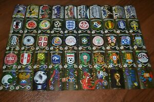 2018-Panini-FIFA-World-Cup-Russia-all-50-stickers-shiny-foil-logo-badge-emblem
