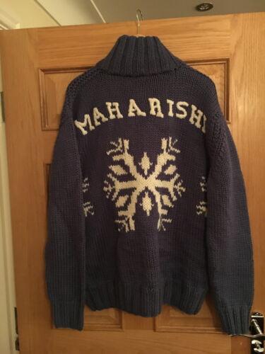 Maharishi homme artic bleu tour cardigan en mailles!!!