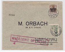 Bes.Polen intressanter Brief mit Halbierung