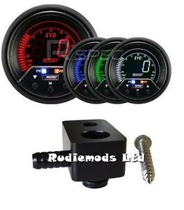 Details about Ford Fiesta ST180 60mm Peak Warning Boost Gauge PSI and  fitting adaptor