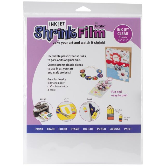 6-Pack Clear 8-1//2-Inch by 11-Inch Grafix Ink Jet Adhesive Film